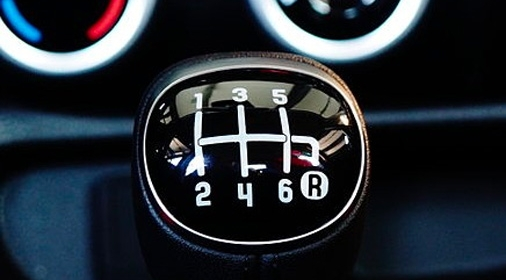 a gear stick with 6 gears