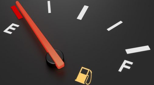empty fuel dial