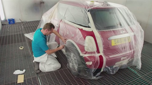 Masking Off Before car Respray