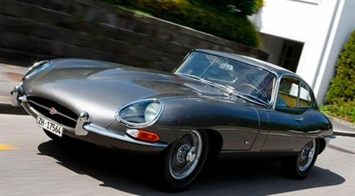 Jaguar E type in grey