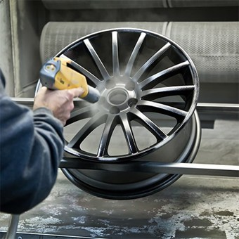Applying Powder Coating To Alloy Wheel
