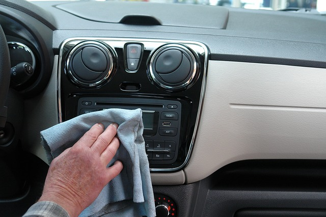 Cleaning the interior of a car