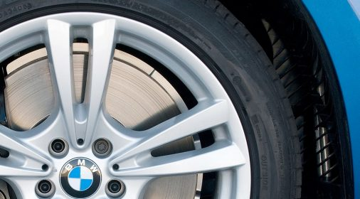 alloy wheel after being repaired, close up
