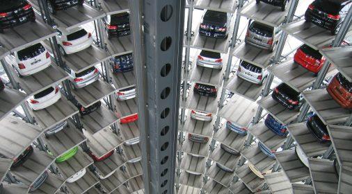 cars in a multi storey car park