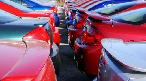 car backs in a car park