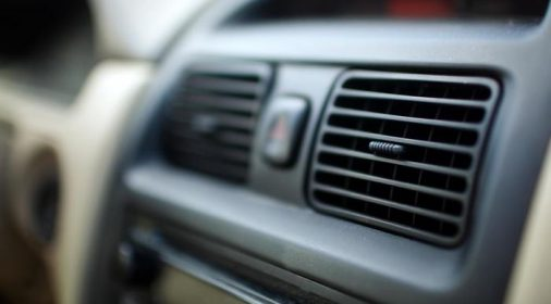 close up of a car heater