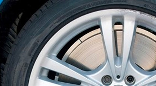 an alloy wheel before it has been repaired