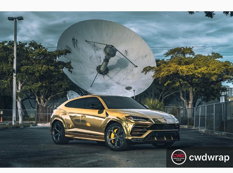gold car wrap