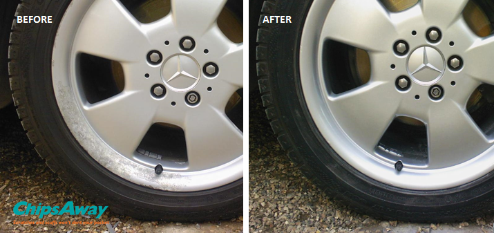 wheel before and after a refurbishment